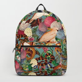 Floral and Animals pattern Backpack