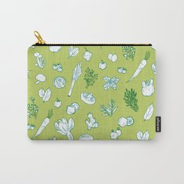 Pastel Vegetables & Herbs Pattern Carry-All Pouch