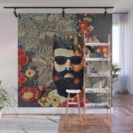 Beard and glasses Wall Mural