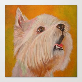 Westhighland White Terrier Portrait Canvas Print