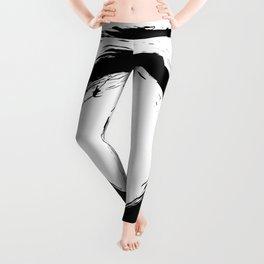 Black and white shapes splatter Leggings