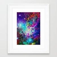 nebula Framed Art Prints featuring Fox Nebula by Starstuff