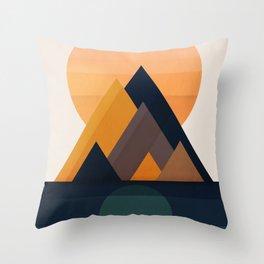 Twin Sun Throw Pillow