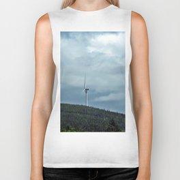 Windmill in the clouds Biker Tank