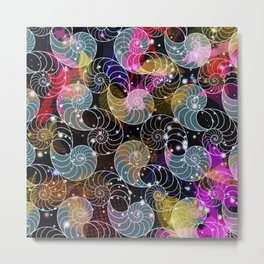C13D Seashell Sparkle Metal Print