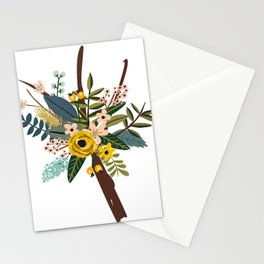 Bold Wildflower Bouquet Stationery Cards