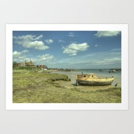 Orford old Boat Art Print