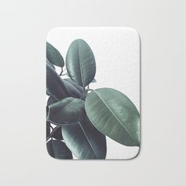 Ficus Elastica #18 #White #foliage #decor #art #society6 Bath Mat