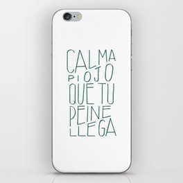 #Spanish #funny #saying in #lettering #design iPhone Skin