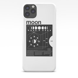 Phases of the Moon infographic iPhone Case