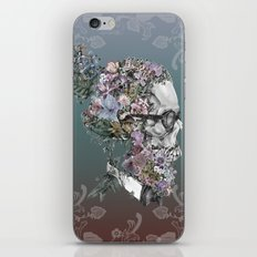 hipster floral skull 3 iPhone & iPod Skin