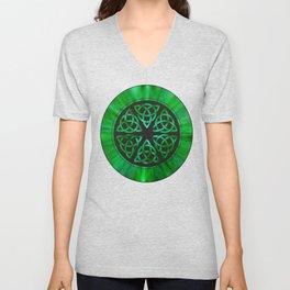 Celtic Knot Star Flower Unisex V-Neck