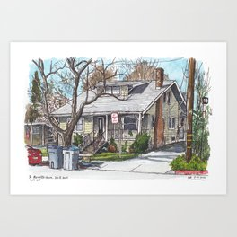 The Barovetto House, Davis Art Print