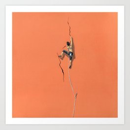 Climbing: Solitude Art Print