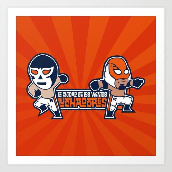 Los Luchadores Art Print