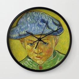"Vincent van Gogh ""Portrait of Camille Roulin"" Wall Clock"