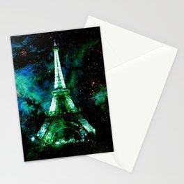 Paris Dreams Green Blue Magenta Stationery Cards