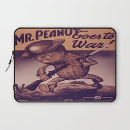 Vintage poster - Mr. Peanut Goes to War Laptop Sleeve