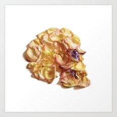 60. Flower Skull Art Print