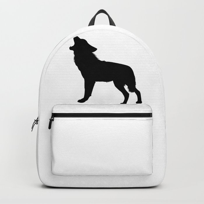 Howling Wolf Silhouette Backpack