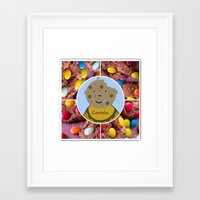 cookie Framed Art Prints featuring Cookie by Jolly Songbird