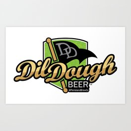 DilDough Beer Art Print