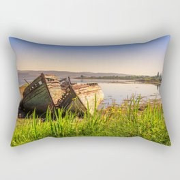 Old fishing boats Rectangular Pillow