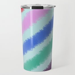 Diagonal Stripes Travel Mug
