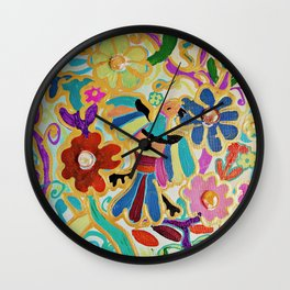 Homage to Otomi Wall Clock