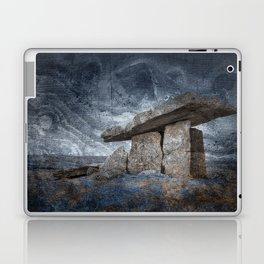 Poulnabrone Dolmen - Blue Winter Grunge Laptop & iPad Skin