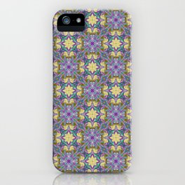 Pattern 24 lilac-yellow iPhone Case