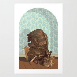 Tax Bear Art Print