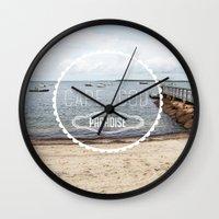 cape cod Wall Clocks featuring Cape Cod Paradise  by Caroline Fahey