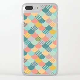 Patchwork Mermaid Scales Clear iPhone Case