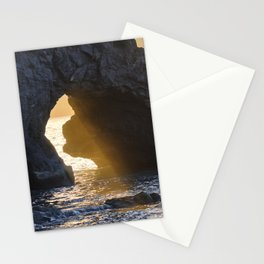 Sunrays Through The Arch. Del Medio Beach. At Sunrise Stationery Cards
