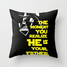 Vader Spoiler Throw Pillow
