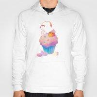 bath Hoodies featuring Cupcake bath by DanBee Kim