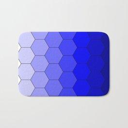 Hexagons (Blue) Bath Mat