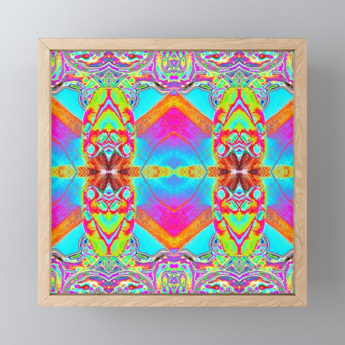 Blotter Paper 17 Mixed Media Psychedelic Art Framed Mini Print By Synesthesiaimages