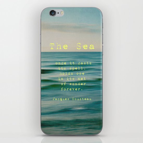 The Sea - typo iPhone & iPod Skin