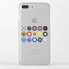 Casino Poker Chips Nevada Day Clear iPhone Case