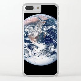 Apollo 17 - Iconic Blue Marble Photograph Clear iPhone Case
