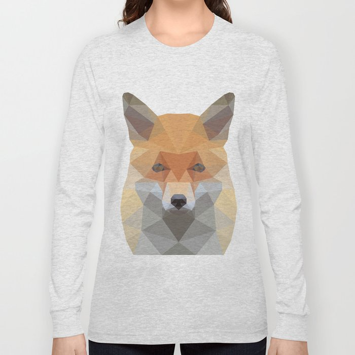 Fox Abstract Low Poly Long Sleeve T-shirt