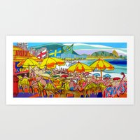 rio de janeiro Art Prints featuring Copacabana - Rio de Janeiro by J.Victtor