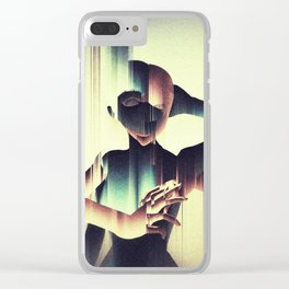 Two Heads: Surreal digital art Clear iPhone Case