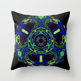 Blacklight Eyes Abstract Throw Pillow
