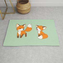 Cute Little Foxes Rug