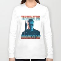 terminator Long Sleeve T-shirts featuring Terminator 2 - Alternative Poster by Lorenzo Imperato