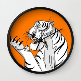 Shere Khan B&W Wall Clock