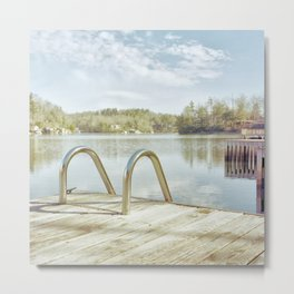 Lake Summit in January Metal Print